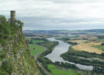 Image of the Carse of Gowrie taken near Kinnoull Tower, Perthshire