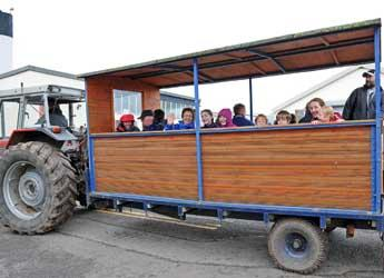 Tractor and trailer tour at the James Hutton Institute Open Farm Sunday 2012