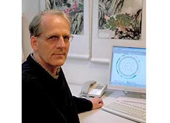 Peter Young at his computer