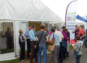 Visitors at the James Hutton Institute marquee during the show in 2013