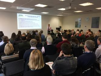 Jonny Hall, NFUS, addresses SSCR members at 2019 meeting