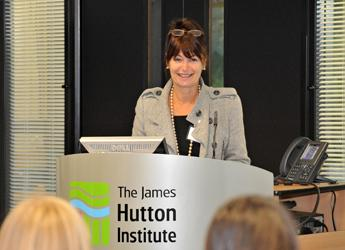 Professor Anne Glover speaking at a previous event at the James Hutton Institute