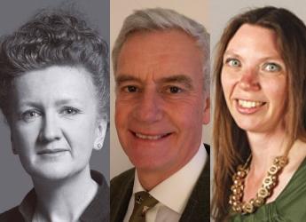 L-R: Samantha Barber, Ken Greetham, Aileen McLeod