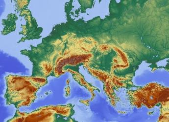 Map of Europe's mountains (Image by Hans Braxmeier from Pixabay)