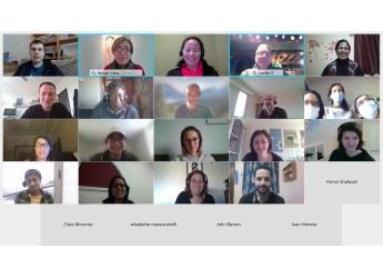 Screenshot of online training session