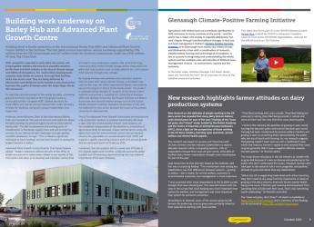 Screenshot of Hutton Highlights, October 2021 issue