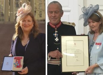 Lorna Dawson and Anne Pack's investiture ceremonies