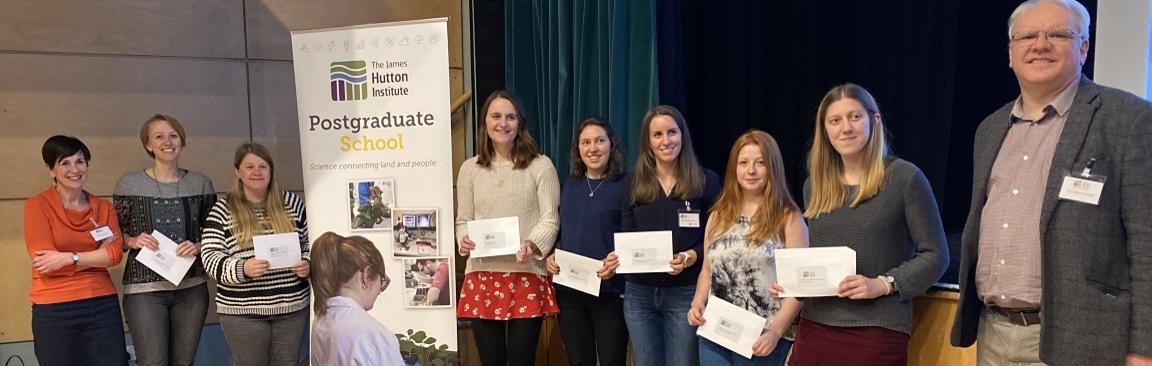 Winners of our 2020 postgraduate event (c) James Hutton Institute