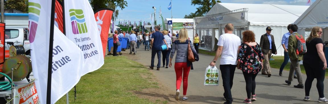 The James Hutton Institute's marquee will be on Ave Q of the showground