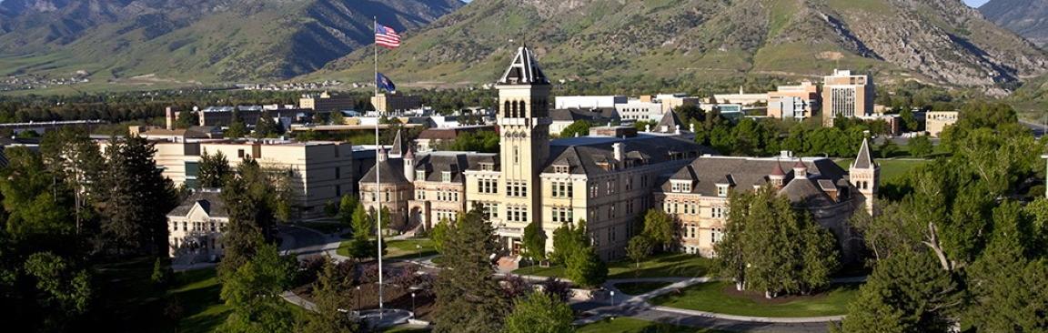 An image of Utah State University's Logan campus