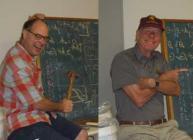 Cameron Grant and Pieter Groenevelt giving a seminar