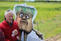 LEAF Open Farm Sunday 2015 Visitor with Claude the Soil Character