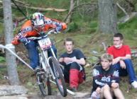 Mountain biker in woodland (c) James Hutton Institute