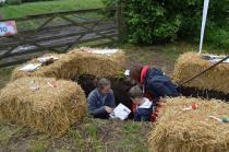 Children exploring our soil pit at Open Farm Sunday 2017