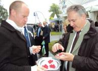 Richard Lochhead samples raspberries bred at the James Hutton Institute