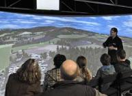 Virtual Landscape Theatre with audience