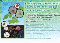 Image of the Aboveground belowground interactions conference flyer