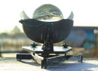Photograph of a Campbell Stokes sunshine recorder