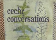 Image of the CECHR Conversations exhibition poster