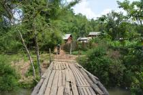 Access track from village to paddy fields