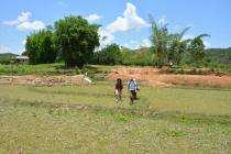 Heading into the field for collecting in Xieng Khouang Province