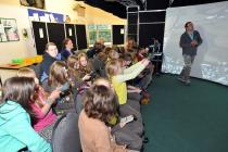 Young residents of Aboyne voting on options for future local land uses