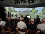 Community group identifying their uses of Finlathen Park in 3D model in VLT