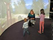Young audience and virtual reality woodland life, VLT@Satrosphere