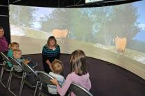 Young audience talking about woodland animals, VLT@Satrosphere