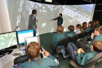 Young residents navigate virtual reality model and interpret land use change