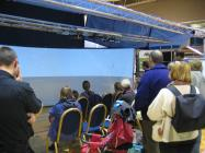Public audience viewing 3d model of proposed windfarm for Aberdeen Bay