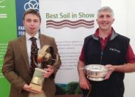 Angus Elder (l) and Hugh Grierson, winners of Best Soil in Show 2016