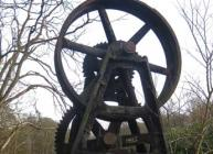 Photograph of old mill machinery on the banks of the River Don