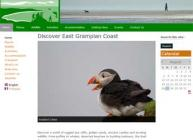 Image showing a screenshot of the Discover East Grampian Coast website