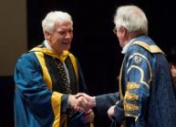 Professor Iain Gordon accepts his honorary degree