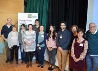 Winners of the 2018 Hutton Postgraduate Student event with panel members
