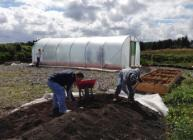 The new polytunnel at Macaulay College was funded by the LEF