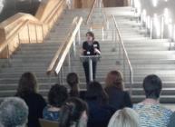 Dr Lee-Ann Sutherland speaking at Scottish Parliament (c) James Hutton Inst
