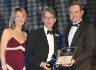 Dr Nigel Kerby, MRS Managing Director is presented with his award