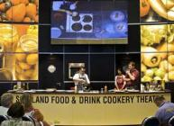 Photograph of a chef busy at the Royal Highland Show Cookery Theatre