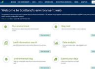 Scotland's Environment Web screenshot