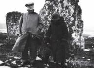 TB Macaulay and Margaret Palin at Calanais, West Lewis, 1929