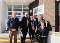 Mr Lochhead met with scientists and postgraduate students during his visit