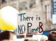 """Picture of a sign that says """"There is no Planet B"""" (Markus Spiske/Pexels)"""