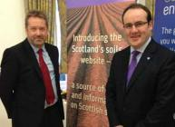 Colin Campbell and Paul Wheelhouse at the website launch