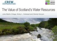 "Cover of ""The Value of Scotland's Water Resources"" note with photo of a river"
