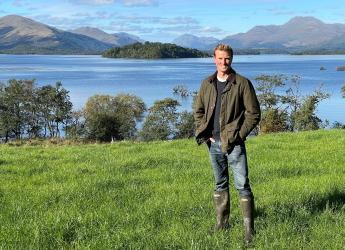 Chris Scott-Park of Portnellan Farm, winner of the final NEWBIE Award