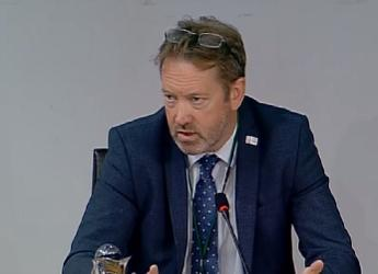 Professor Colin Campbell speaks during the ECCLR evidence session