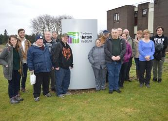 Group users of the Dundee Association for Mental Health at our Invergowrie site