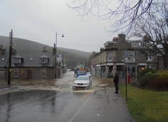Flooding in Ballater (c) James Hutton Institute